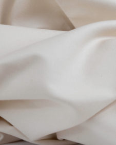 close up of organic cotton sateen textile
