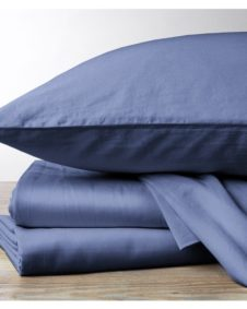Coyuchi Organic Sateen Moonlight Blue Pillowcases