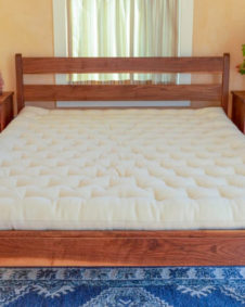 Wool Mattress on Walnut Century Frame with nightstands