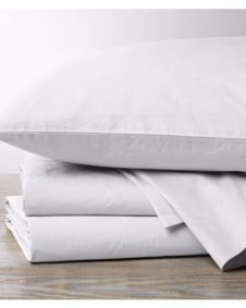 Coyuchi Organic Percale Alpine White Sheets