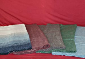 colored blankets
