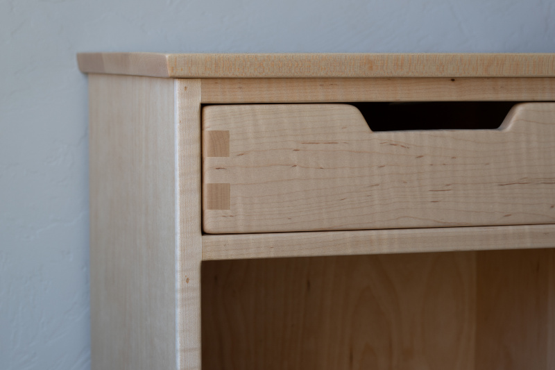 Classic Frame-Maple Nightstand Close-Up Lifestyle