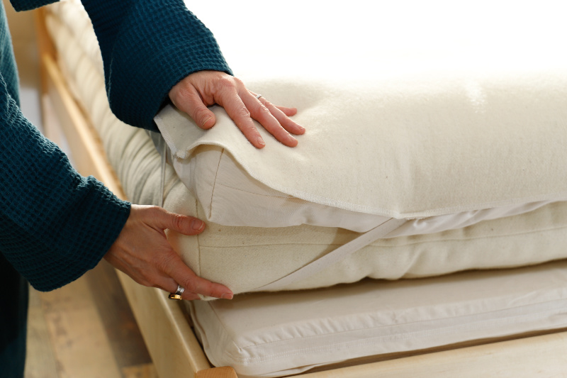 Mattress Protector Hands Lifestyle